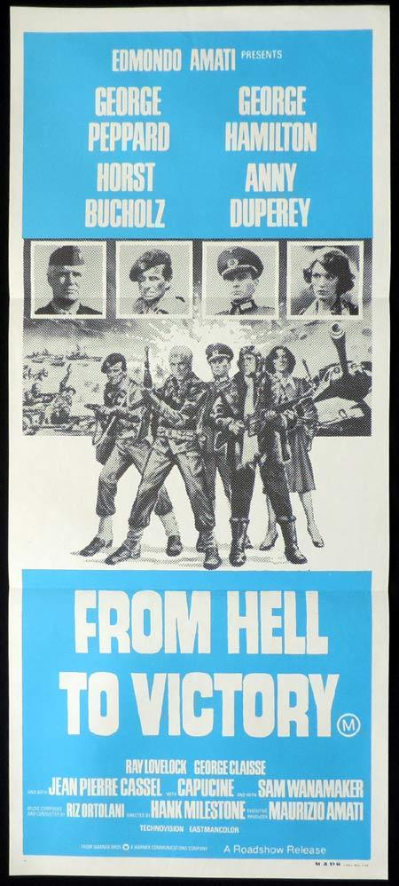 FROM HELL TO VICTORY Original Daybill Movie Poster George Peppard Umberto Lenzi