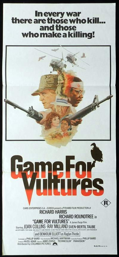 GAME FOR VULTURES Daybill Movie Poster Richard Harris Joan Collins
