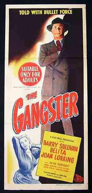 The Gangster 1947 Barry Sullivan Noir Daybill Movie Poster