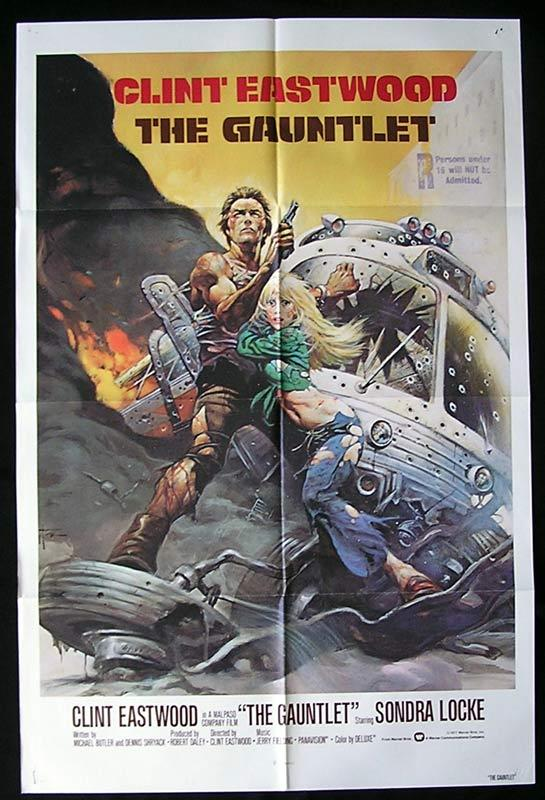 THE GAUNTLET 1977 Clint Eastwood Original US 1sht Movie Poster
