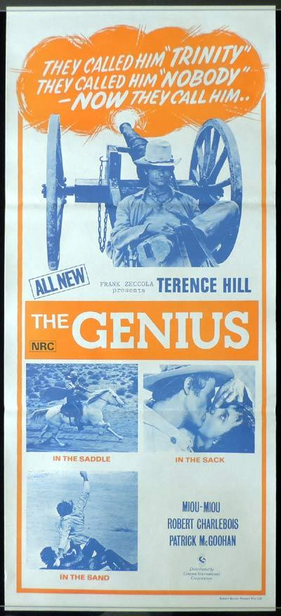 THE GENIUS Daybill Movie poster Terence Hill