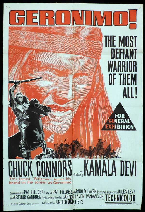 GERONIMO One sheet Movie poster Chuck Connors