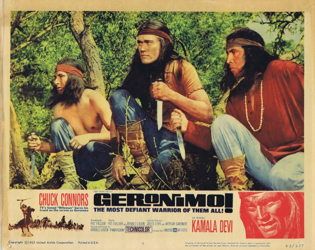 GERONIMO Lobby Card 5 Chuck Connors Adam West Denver Pyle