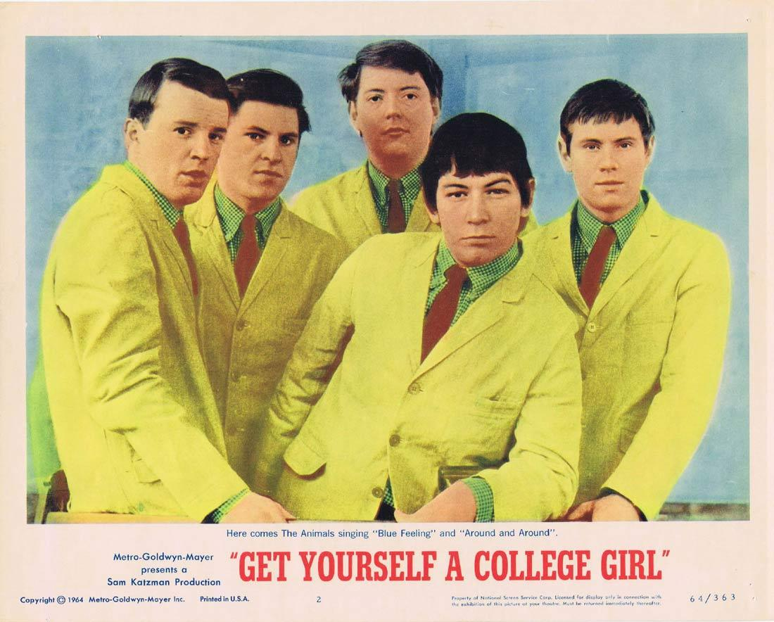 GET YOURSELF A COLLEGE GIRL Lobby Card 2 The Animals