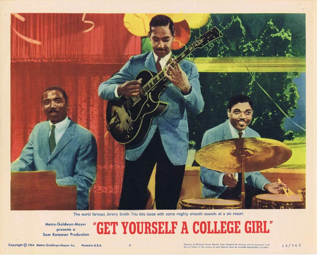 GET YOURSELF A COLLEGE GIRL Lobby Card 4 Jimmy Smith Trio