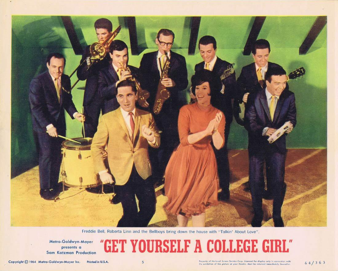 GET YOURSELF A COLLEGE GIRL Lobby Card 5 Freddie Bell Roberta Linn The Bellboys