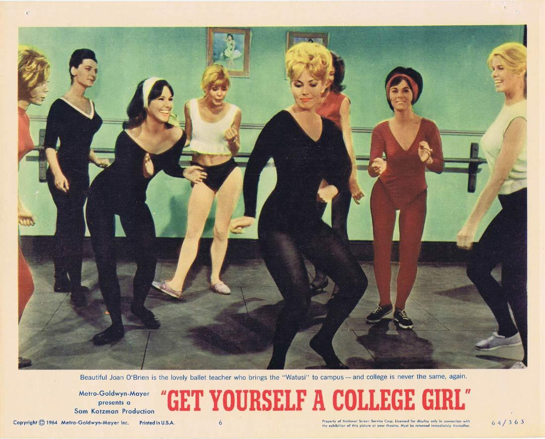 GET YOURSELF A COLLEGE GIRL Lobby Card 6 Joan O'Brien Watusi