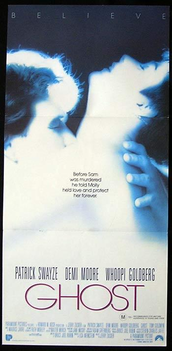 GHOST Patrick Swayze Demi Moore daybill Movie poster