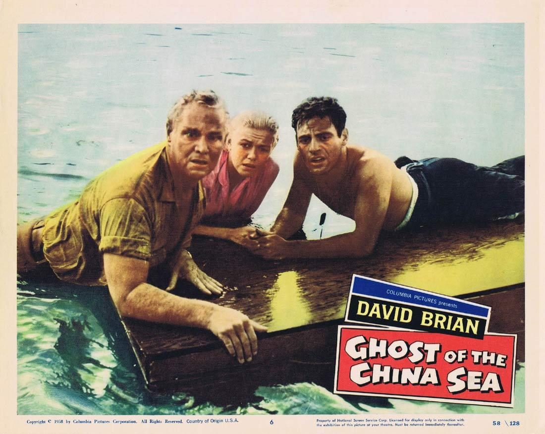 GHOST OF THE CHINA SEA Lobby Card 6 David Brian Lynette Bernay Norman Wright