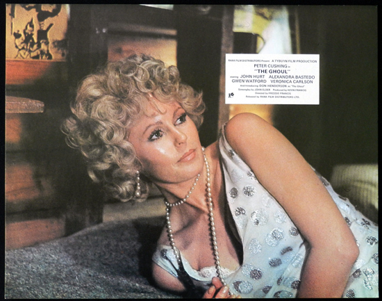 THE GHOUL 1975 Veronica Carlson TYBURN HORROR Lobby Card 1