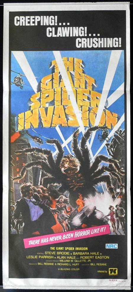 THE GIANT SPIDER INVASiON Original Daybill Movie Poster Sci Fi