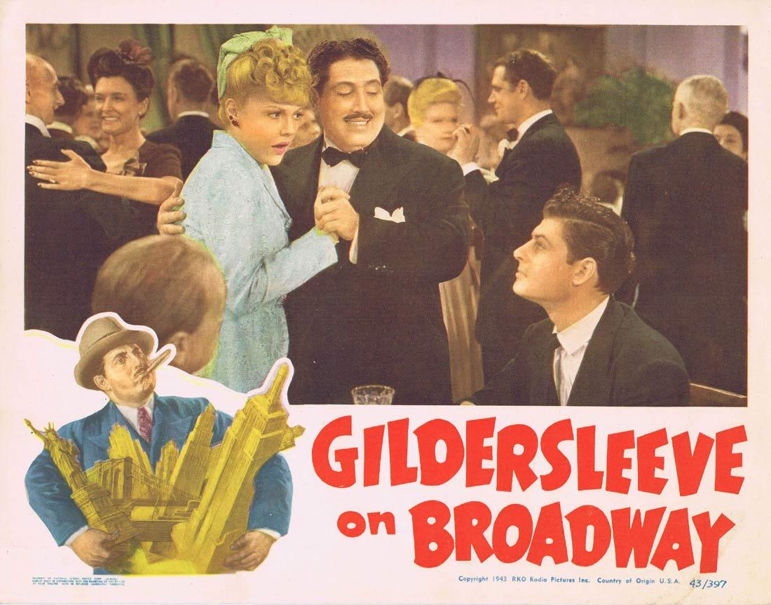 GILDERSLEEVE ON BROADWAY Lobby Card 4 Harold Peary Billie Burke Claire Carleton 1943
