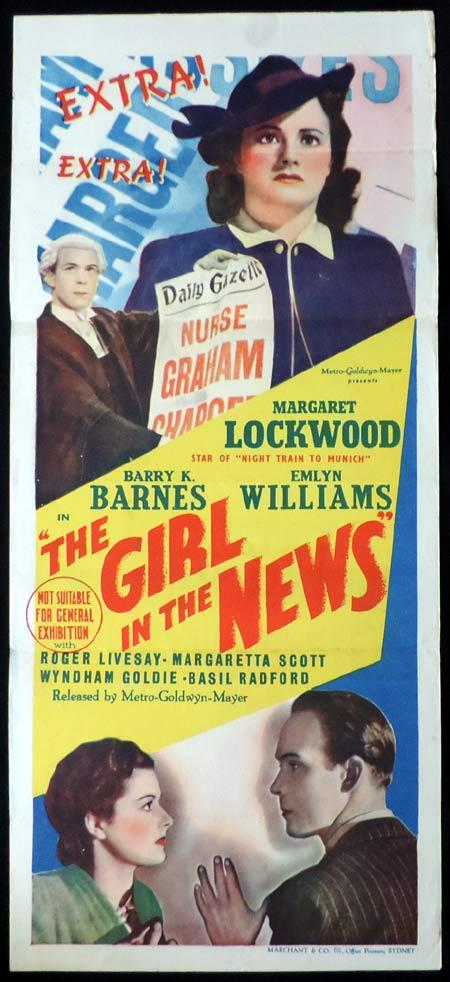 GIRL IN THE NEWS Original Daybill Movie Poster Margaret Lockwood Carol Reed Marchant Graphics