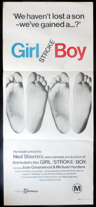 GIRL STROKE BOY Original Daybill Movie poster Joan Greenwood British Comedy