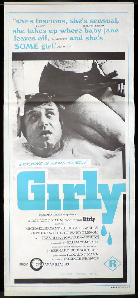 GIRLY Freddie Francis Horror VINTAGE Original Daybill Movie Poster