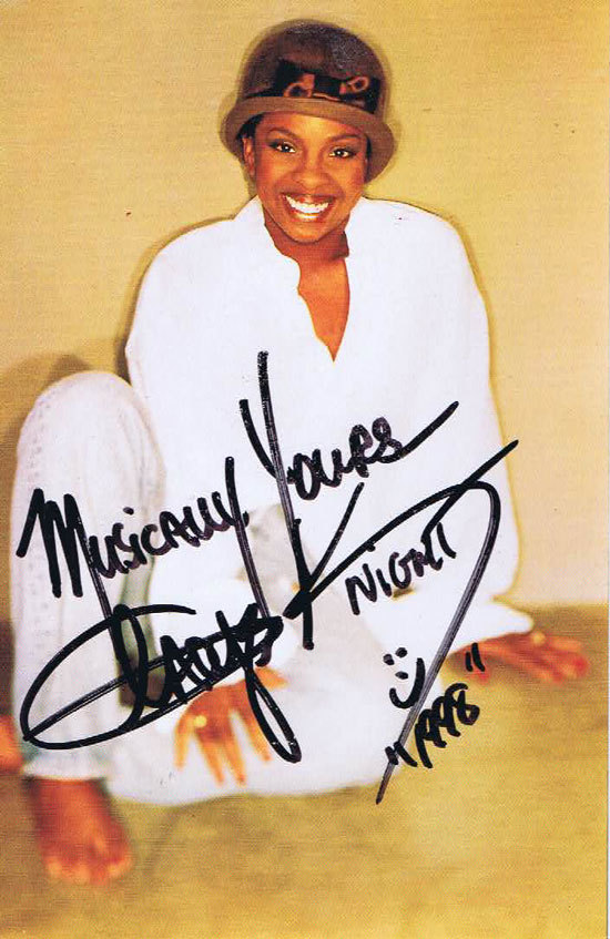 GLADYS KNIGHT Autographed Publicity Postcard