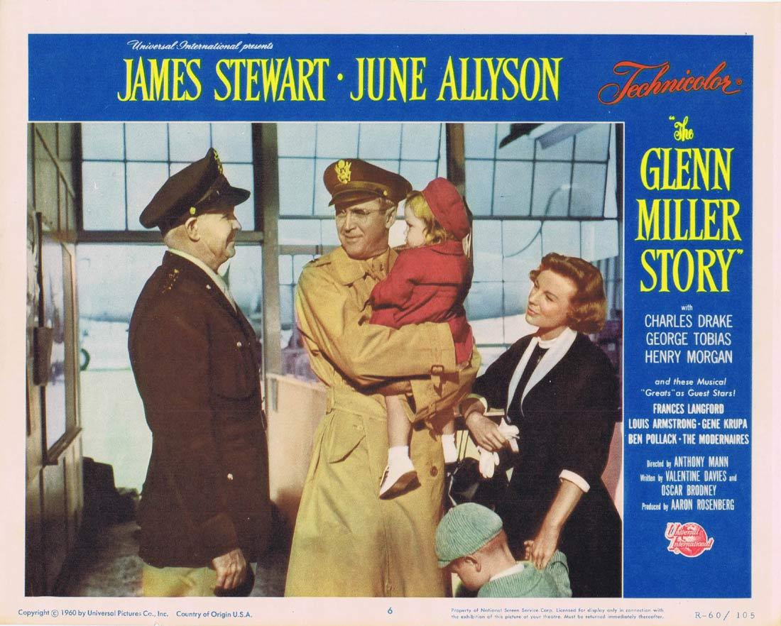 THE GLENN MILLER STORY Vintage Movie Lobby Card 6 James Stewart June Allyson 1960r