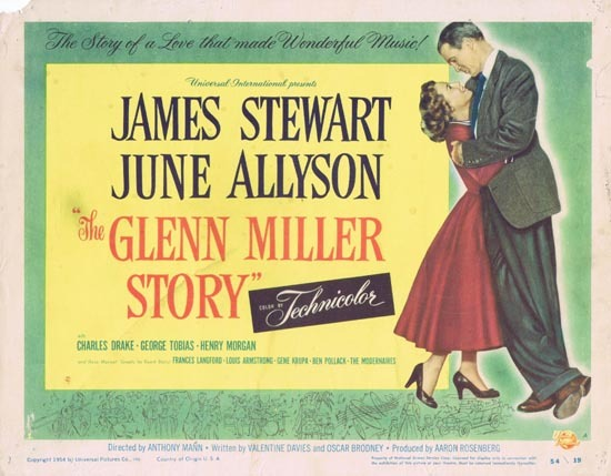 GLENN MILLER STORY Title Lobby Card 1954 James Stewart