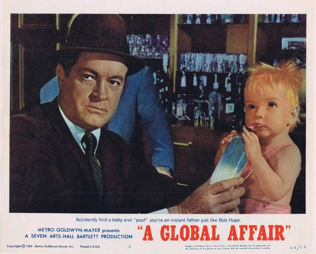 A GLOBAL AFFAIR Lobby Card 6 Bob Hope Michele Mercier Yvonne De Carlo.