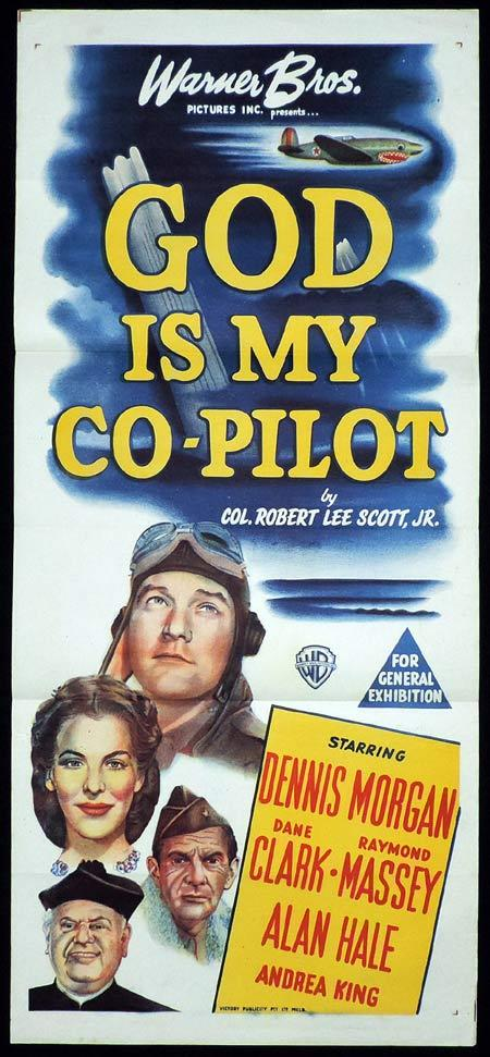 GOD IS MY CO-PILOT Original Daybill Movie Poster Dennis Morgan