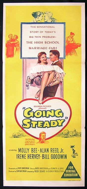 GOING STEADY Movie Poster 1958 Molly Bee Alan Reed Australian Daybill