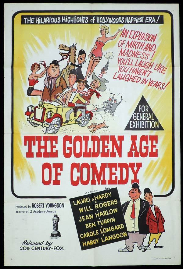 THE GOLDEN AGE OF COMEDY One Sheet Movie Poster Laurel and Hardy Youngson
