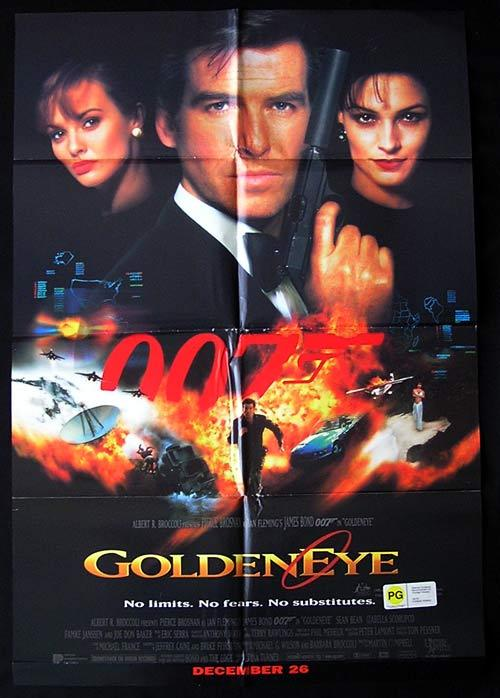 GOLDENEYE 1995 James Bond Australian 1 sheet movie poster