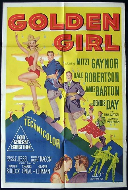 Golden Girl, Lloyd Bacon, Mitzi Gaynor, Dale Robertson, Gene Sheldon