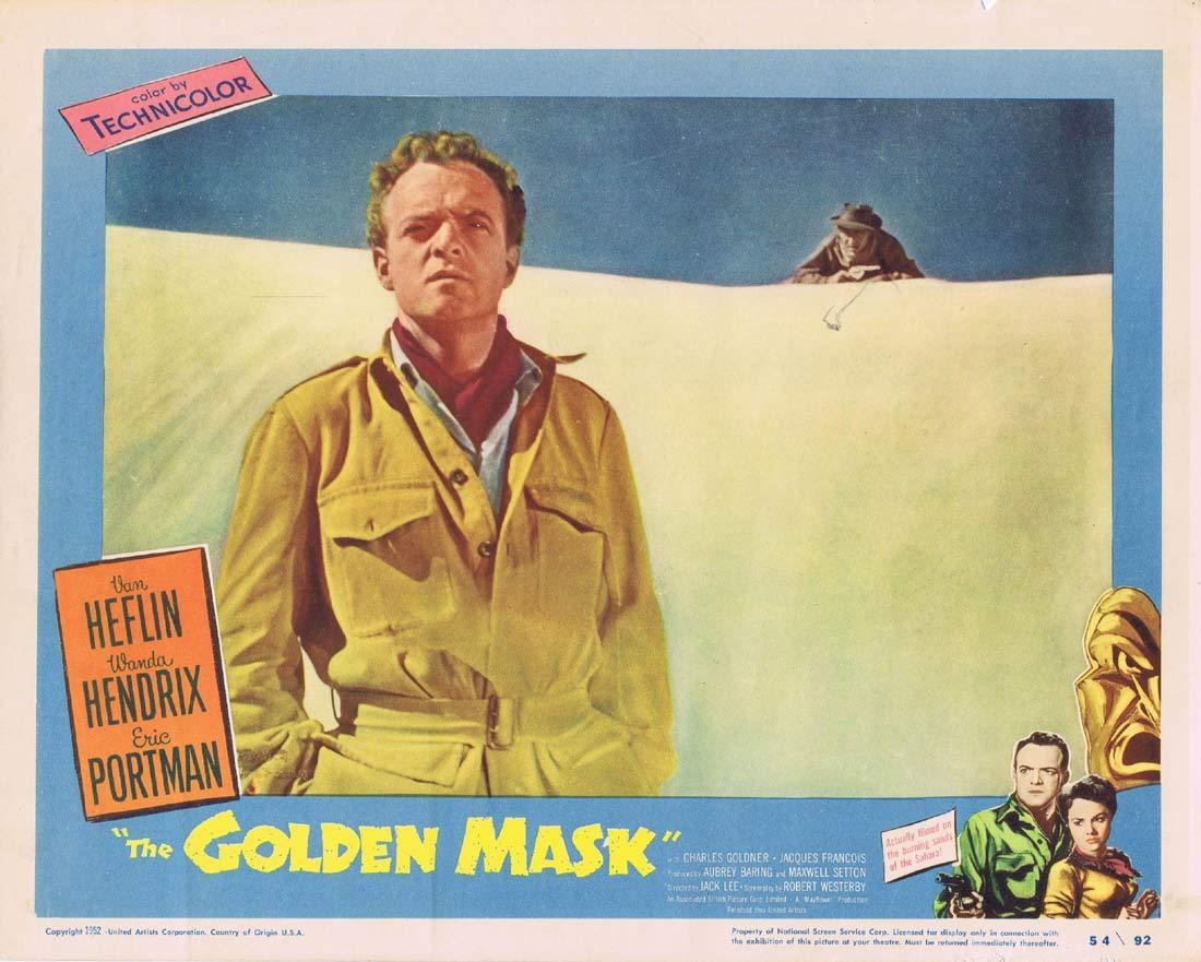 THE GOLDEN MASK Original Lobby Card 5 Van Heflin Wanda Hendrix
