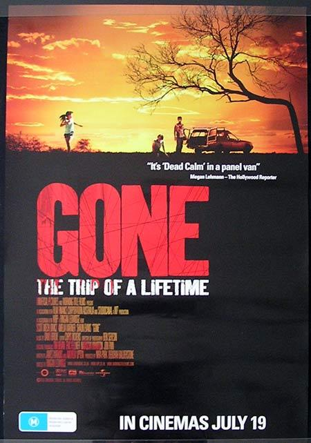GONE The Trip of a Lifetime Movie Poster 2007 Australian one sheet