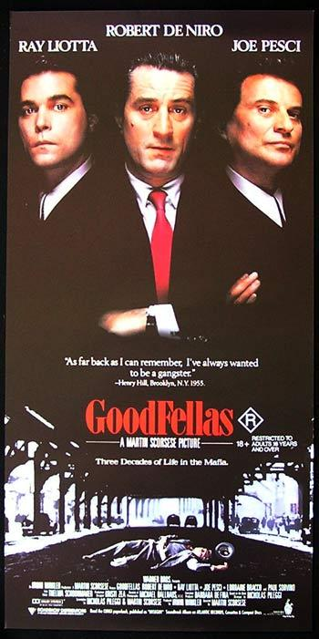 GOODFELLAS 1990 Australian Daybill Movie Poster Robert De Niro