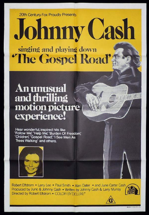 GOSPEL ROAD One sheet Movie poster Johnny Cash