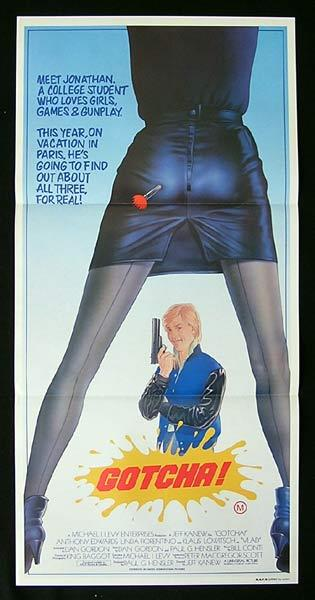 GOTCHA Original Daybill Movie Poster Anthony Edwards Linda Fiorentino