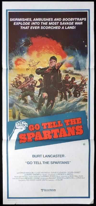 GO TELL THE SPARTANS daybill Movie poster Burt Lancaster
