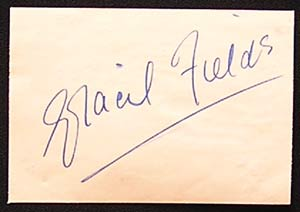 GRACIE FIELDS - Autograph