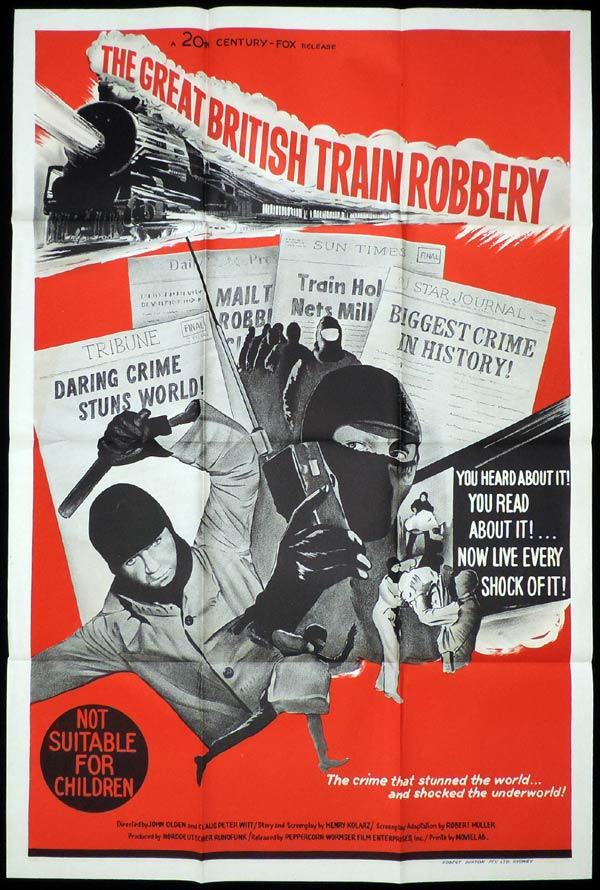 THE GREAT BRITISH TRAIN ROBBERY One Sheet Movie Poster Crime Film Noir