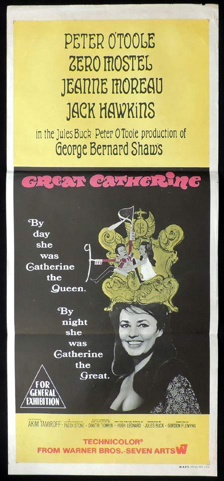 GREAT CATHERINE Original Daybill Movie Poster Peter O'Toole
