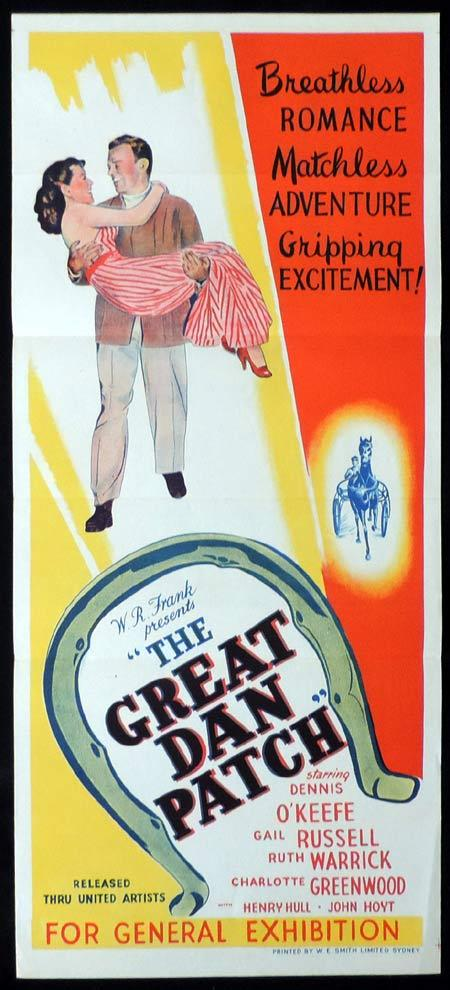THE GREAT DAN PATCH Original Daybill Movie Poster Dennis O'Keefe Gail Russell
