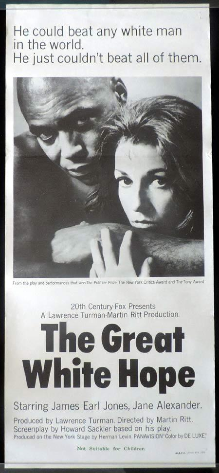 THE GREAT WHITE HOPE Daybill Movie Poster James Earl Jones