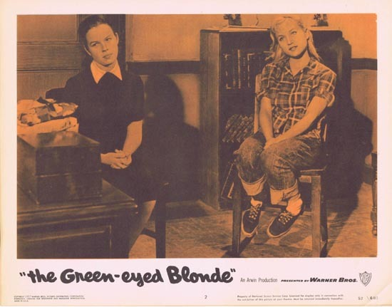 THE GREEN EYED BLONDE 1957 Lobby Card 2 Susan Oliver Bad Girls