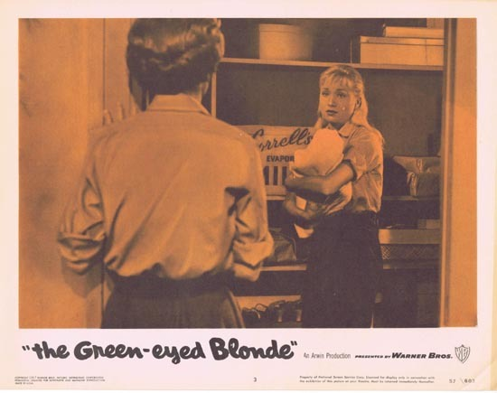 THE GREEN EYED BLONDE 1957 Lobby Card 3 Susan Oliver Bad Girls
