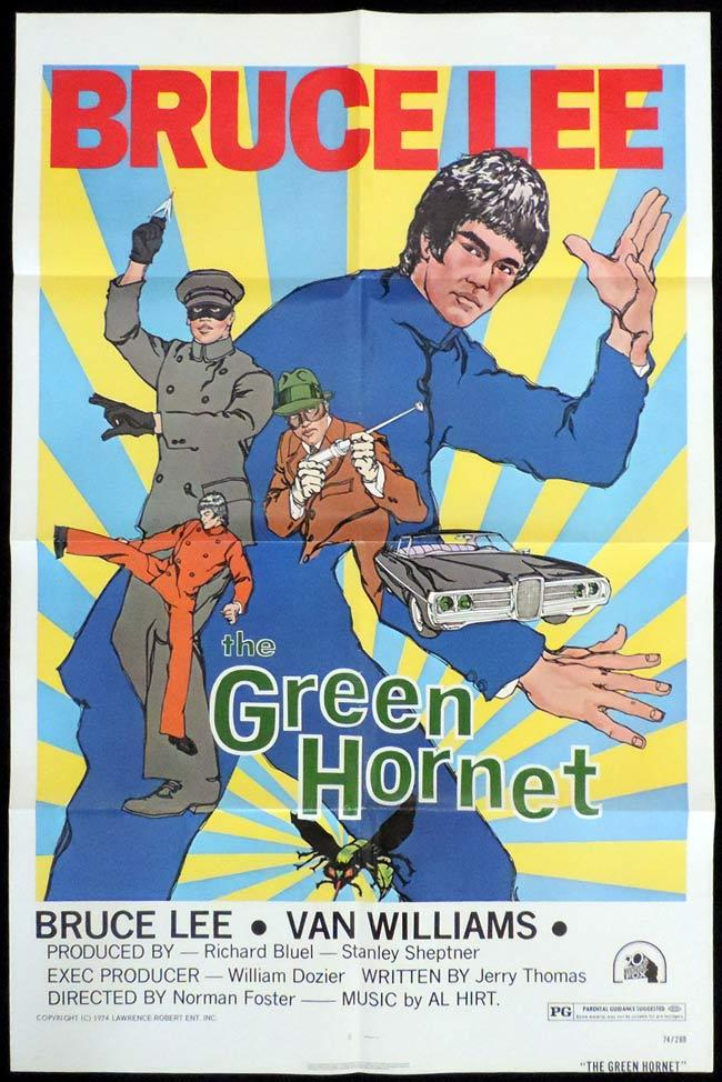 THE GREEN HORNET Original US One sheet Movie Poster BRUCE LEE