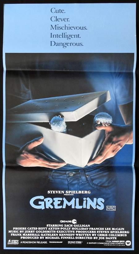 GREMLINS Original Daybill Movie Poster Zach Galligan Joe Dante