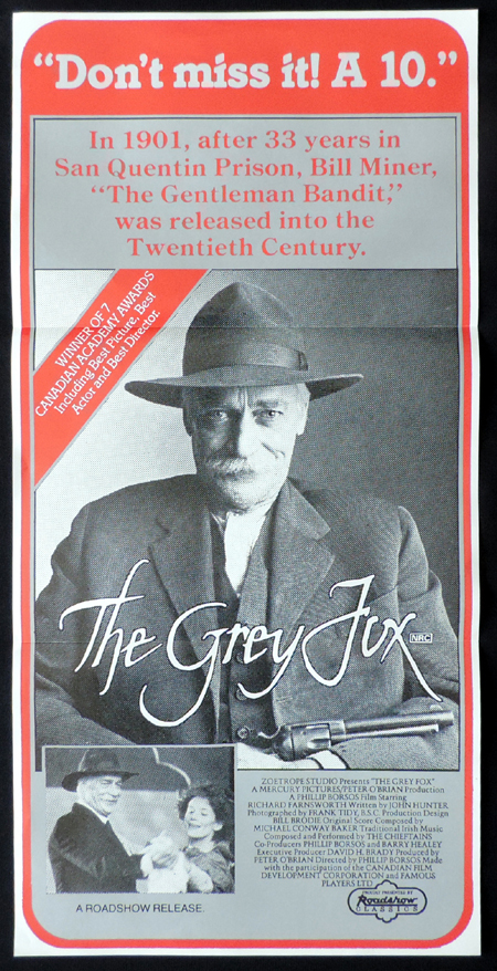 THE GREY FOX Richard Farnsworth VINTAGE Original Daybill Movie Poster
