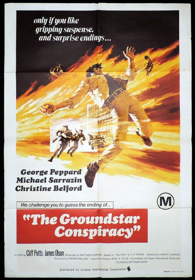 THE GROUNDSTAR CONSPIRACY One Sheet Movie Poster Michael Sarrazin