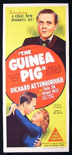 THE GUINEA PIG Daybill Movie Poster Richard Attenborough