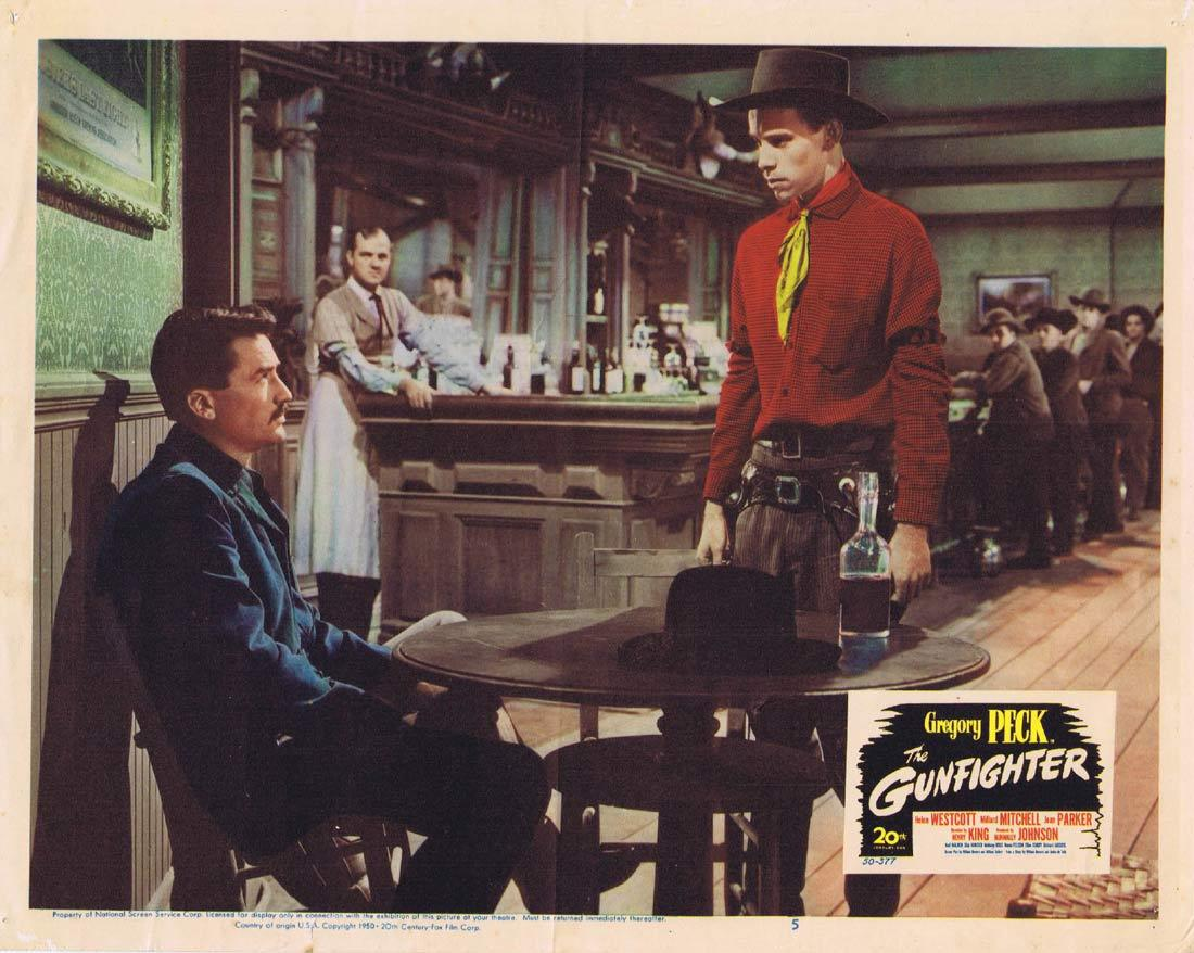 THE GUNFIGHTER Original Lobby Card 5 Gregory Peck Helen Westcott