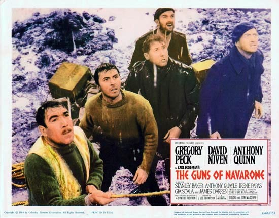 GUNS OF NAVARONE 1966r Gregory Peck Lobby Card 6