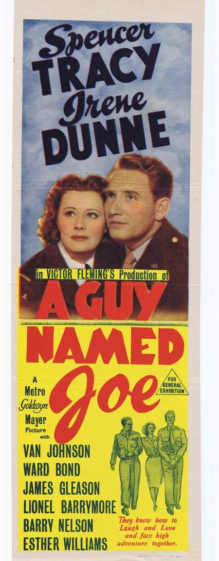 A GUY NAMED JOE, Original Daybill, Movie Poster, Spencer Tracy, Irene Dunne, Marchant Graphics