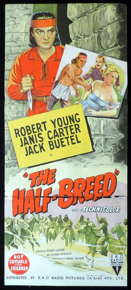 THE HALF BREED Original Daybill Movie Poster RKO Robert Young